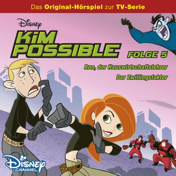 Kim Possible Hörspiel - Folge 5: Ron, der Hauswirtschaftslehrer/Der Zwillingsfaktor (Disney TV-Serie)