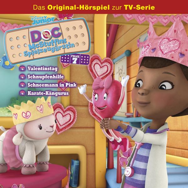 Doc McStuffins Hörspiel - Folge 7: Valentinstag/Schnupfenhilfe/Schneemann in Pink/Karate-Kängurus (Disney TV-Serie)