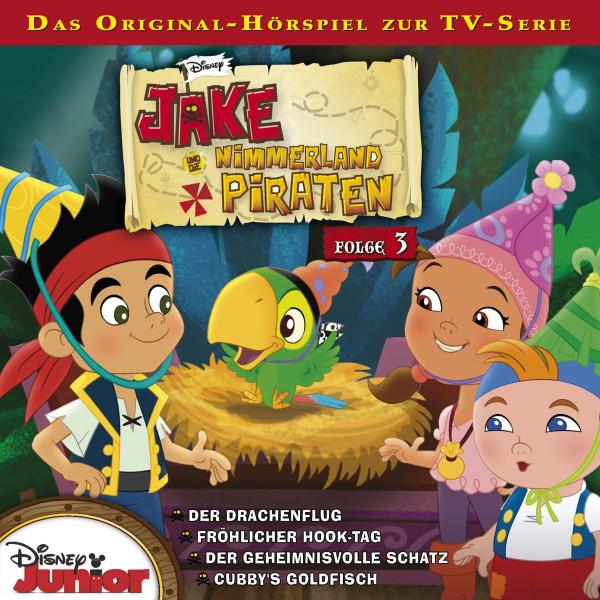 Disney - Jake und die Nimmerland Piraten - Folge 3 - Der Drachenflug / Fröhlicher Hook-Tag/Der geheimnisvolle Schatz / Cubbys Goldfisch
