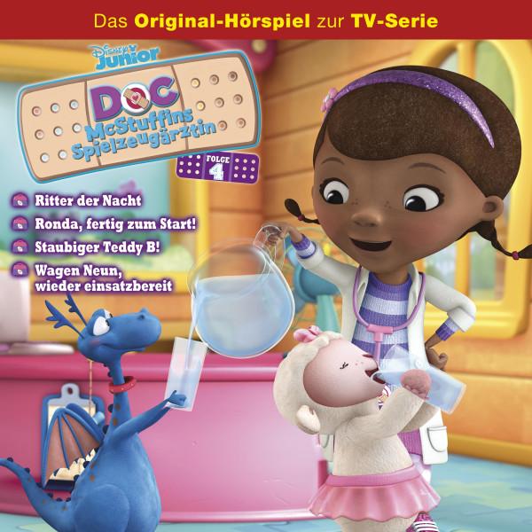 Doc McStuffins Hörspiel - Folge 4: Ritter der Nacht/ Ronda, fertig zum Start/ Staubiger Teddy B!/ Wagen Neun, wiedereinsatzbereit (Disney TV-Serie)