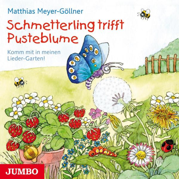 Schmetterling trifft Pusteblume. - Komm mit in meinen Lieder-Garten