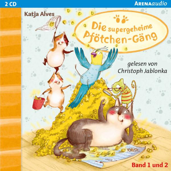 Die supergeheime Pfötchen-Gäng (1&2). Zwei-Millionen-Körner Schatz. Geheimnisvolle Glückskatze