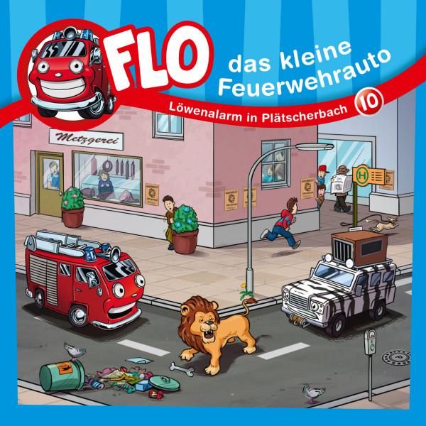 Flo, das kleine Feuerwehrauto - 10: Löwenalarm in Plätscherbach